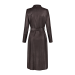 Helena Hart Dress Biker Suedine Choco